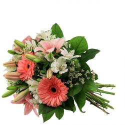 Pretty Bouquet of White and Pink Flowers