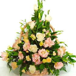 Pyramid Shape Arrangement  Of Flowers