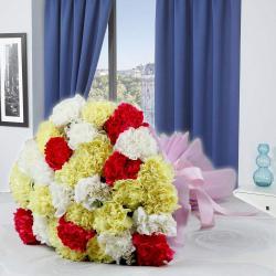 Ravishing Thirty Carnations Bouquet