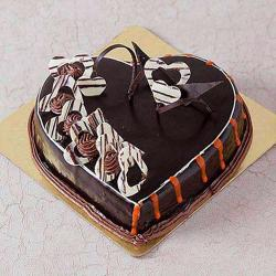 Rich Heart Shape Sugar Free Chocolate Cake