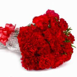Romance Remindering Red Carnations Bouquet