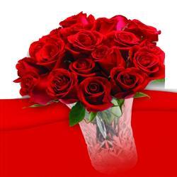 Romantic 21 Roses In vase