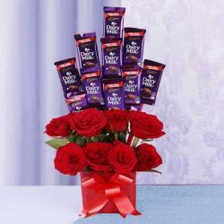 Romantic Chocolates and Roses Bouquet