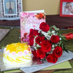 Roses and Cake for Your Birthday