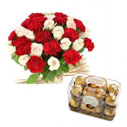 Roses and Carnation Chocolate Hamper