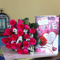 Roses Bouquet With Love Card