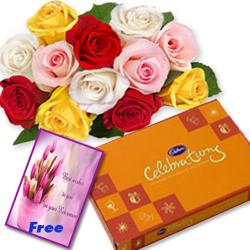 Roses Chocolates With Greeting Card