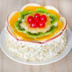 Seasonal Fresh Fruit Cream Cake