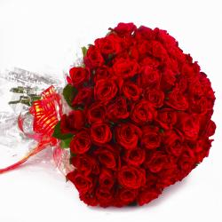 Seventy Five Red Roses Bouquet
