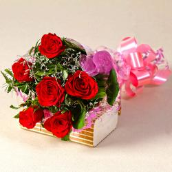 Six Red Roses Love You Bouquet