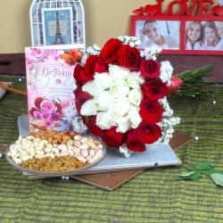 Special Birthday Dryfruit and Roses Gift