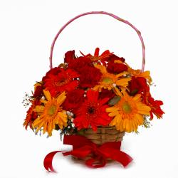 Spring Blossom in Floral Basket