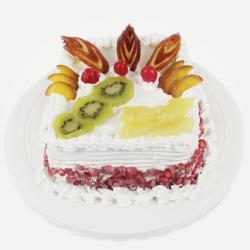 Square Mix Fresh Fruit Cake