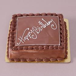 Square Shape Butter Cream Chocolate Happy Birthday Cake