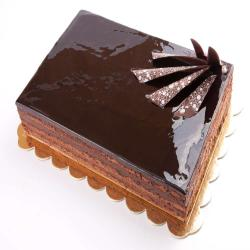Square Shape Dark Chocolate Cake