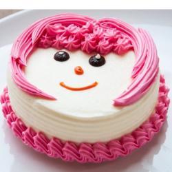 Strawberry Vanilla Face Cake