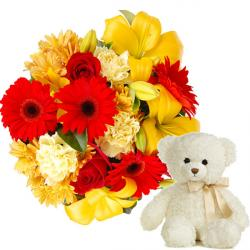 Teddy and Mix flowers