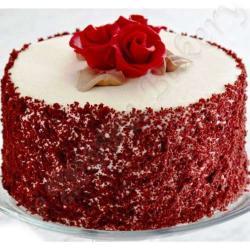 Tempting Round Shape Red Velvet Cake from Five Star Bakery