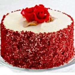Tempting Round Shape Red Velvet Cake