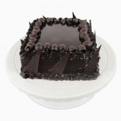 Tempting Square Dutch Truffle Chocolate Cake