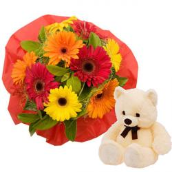 Ten flowers with Teddy
