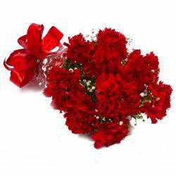Ten Love Red Carnations Bouquet