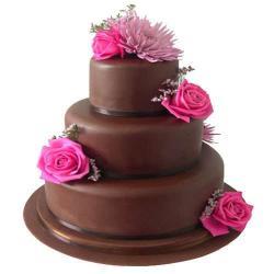 Three Tier Dark Chocolate Cake