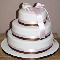 Three Tier Vanilla Fresh Cream Cake