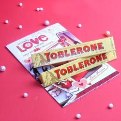 Toblerone Chocolate with Greeting Card
