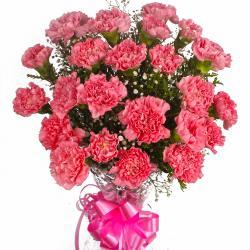 Two Dozen Pink Carnations Bouquet