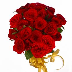 Two Dozen Red Roses Tissue Wrapped