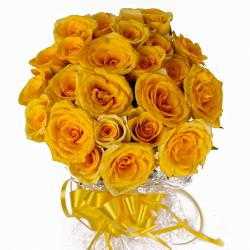Two Dozen Yellow Color Roses Bouquet