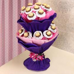 Two Layer Ferrero Rocher Chocolate Bouquet