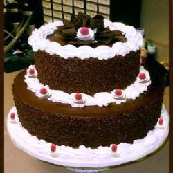 Two Tier Black Forest Fresh Cream Cake