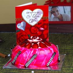 Valentine Strawberry Cake with Love Card