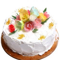 Vanilla Floral Cake