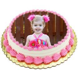 Vanilla Sugar Less Photo Cake