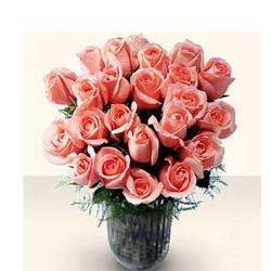 Vase of 25 Pink Roses