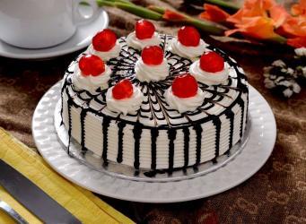 White Zebra Cake from Five Star Bakery