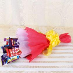 Assorted Chocolates Bouquet for Dewas