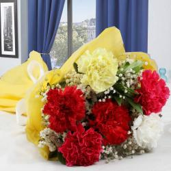 Bouquet of Mix Carnations for Hospet