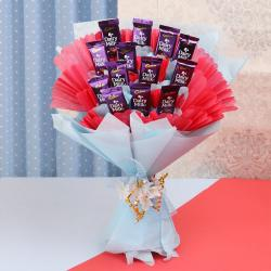 Cadbury Dairy Milk Chocolate Bouquet Online for Gandhinagar