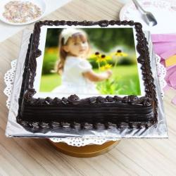 Dark Chocolate Personalized Cake For Chennai