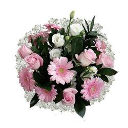 Delicate Pink Flowers Bouquet