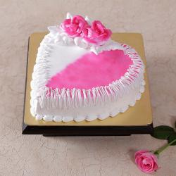 Eggless Butter Cream Strawberry Cake for Surendranagar