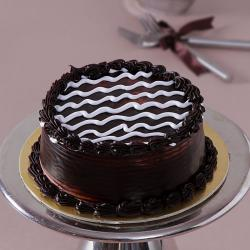 Eggless Dark One Kg Chocolate Cake for Pondicherry