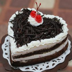 Heartshape Black Forest Cake for Surendranagar