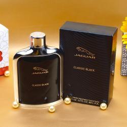 Jaguar Classic Black Perfume For Him With Complimentary Love Card Vadodara