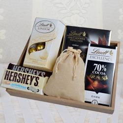 Lindt Chocolates with Hersheys and Truffles in Tray