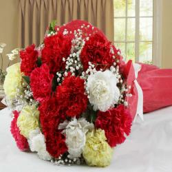 Mix Carnations Hand Tied Bouquet